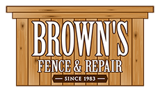 Brown's Fence & Repair Logo